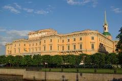 Het kasteel van Mihaylovskiy Stock Foto's