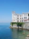 Het kasteel van Miramare, Triëst, Italië royalty-vrije stock foto