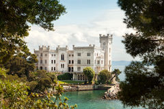 Het Kasteel van Miramare, Triëst, Italië royalty-vrije stock afbeeldingen