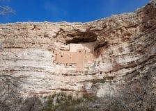 Het Kasteel van Montezuma: mening van een afstand Royalty-vrije Stock Fotografie