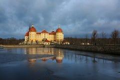 Het Kasteel van Moritzburg Stock Foto's