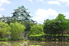 Het Kasteel van Nagoya de Reis in van Nagoya, Japan stock afbeelding