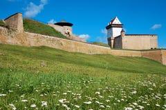Het kasteel van Narva. Estland stock afbeelding