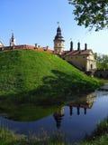 Het kasteel van Nesvizh in Wit-Rusland Stock Foto's