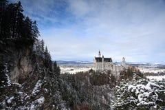 Het kasteel van Neuschwanstein in Duitsland Stock Afbeeldingen