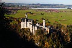 Het kasteel van Neuschwanstein in Duitsland stock foto's