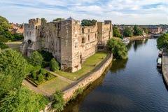 Het kasteel van Newark in Engeland, het UK Stock Foto