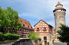 Het kasteel van Nuremberg Stock Fotografie