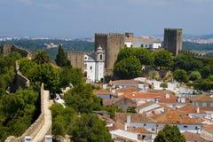 Het kasteel van Obidos Stock Afbeeldingen