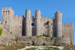 Het kasteel van Obidos, Estremadura, Portugal, Europa. Stock Afbeeldingen