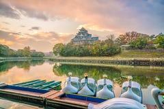 Het kasteel van Okayama in de herfstseizoen in de stad van Okayama, Japan stock afbeelding