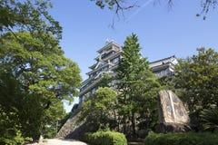 Het kasteel van Okayama in de prefectuur van Okayama in Japan stock fotografie