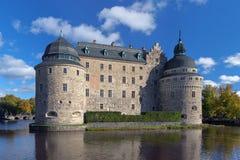 Het Kasteel van Orebro, Zweden Stock Afbeelding