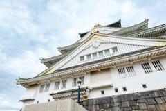 Het kasteel van Osaka, het beroemde cultureel erfgoed in Kyoto, Japan stock foto