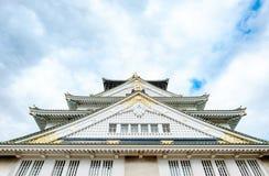 Het kasteel van Osaka, het beroemde cultureel erfgoed in Kyoto, Japan royalty-vrije stock afbeelding