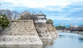 Het kasteel van Osaka, het beroemde cultureel erfgoed in Kyoto, Japan stock afbeeldingen