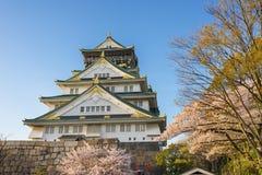 Het Kasteel van Osaka in Japan stock afbeelding