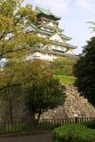 Het kasteel van Osaka, Osaka, Japan stock afbeeldingen