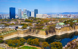 Het kasteel van Osaka, Osaka, Japan Royalty-vrije Stock Foto