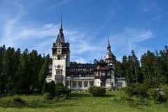 Het Kasteel van Peles, Roemenië royalty-vrije stock afbeeldingen