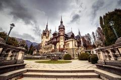 Het Kasteel van Peles, Sinaia, Roemenië Royalty-vrije Stock Foto's