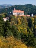 Het kasteel van Pernstejn Stock Foto's