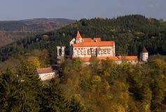Het kasteel van Pernstejn Stock Afbeelding