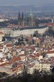 Het Kasteel van Praag en St Vitus Kathedraal Stock Afbeeldingen