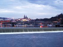 Het Kasteel van Praag en Weinig Kant, Praag, Tsjechische Republiek Stock Fotografie