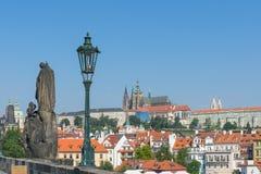 Het Kasteel van Praag, ochtend Stock Afbeeldingen