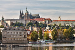 Het Kasteel van Praag, Tsjechische Republiek Stock Foto