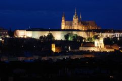 Het Kasteel van Praag in Tsjechische Republiek stock afbeelding