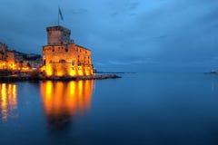 Het Kasteel van Rapallo, Italië (Ligurië) Stock Foto's