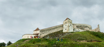 Het kasteel van Rasnov Stock Afbeeldingen