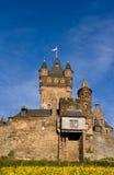Het Kasteel van Reichsburg in Cochem stock fotografie