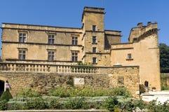 Het Kasteel van Lourmarin (chateau DE lourmarin), de Provence, Luberon, Frankrijk Stock Foto's