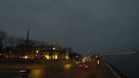 Het kasteel van Riga stock videobeelden
