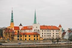 Het Kasteel van Riga - de officiële woonplaats van de President van Letland stock fotografie