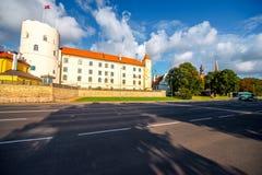 Het kasteel van Riga in Letland stock foto's
