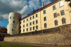 Het Kasteel van Riga op de banken van Rivier Daugava in Lets kapitaal stock foto's