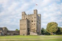 Het kasteel van Rochester in Kent, Engeland Stock Afbeeldingen