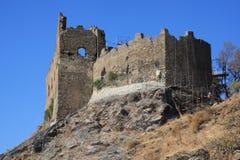 Het kasteel van Ruffo, Amendolea, Calabrië, Italië Stock Afbeelding