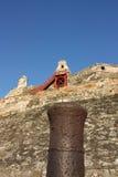 Het kasteel van San Felipe DE Barajas. Cartagena Royalty-vrije Stock Afbeelding