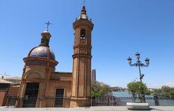 Het Kasteel van San Jorge was een middeleeuwse die vesting op Cisjordani? van de rivier van Guadalquivir in de stad van Sevilla w royalty-vrije stock afbeeldingen