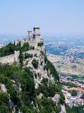Het kasteel van San Marino stock foto's