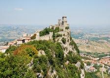 Het kasteel van San Marino stock afbeelding