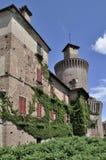 Het kasteel van Sartirana, lomellina Stock Fotografie