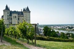 Het kasteel van Saumur Royalty-vrije Stock Afbeeldingen