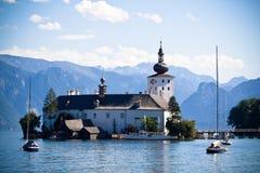 Het kasteel van Schloss Ort (Oostenrijk) Stock Afbeeldingen