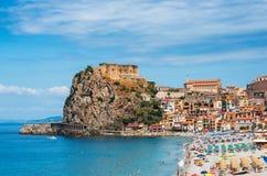 Het kasteel van Scilla Stock Foto's